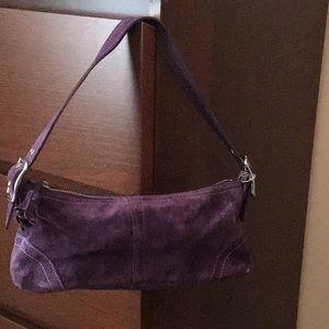 Purple suede Coach purse